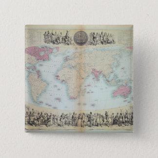 British Empire throughout the World 15 Cm Square Badge