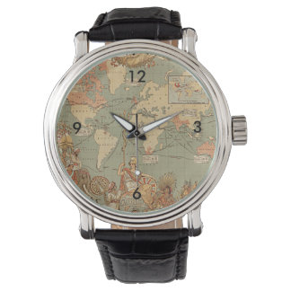 British Empire Vintage Victorian Map Watch