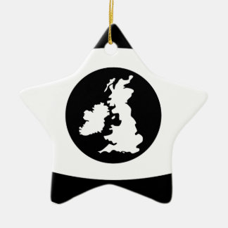 British eye ceramic star decoration