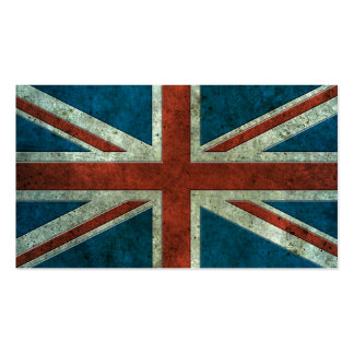 British Flag Aged Steel Effect Business Card Templates