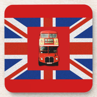 British Flag and London Bus Coaster