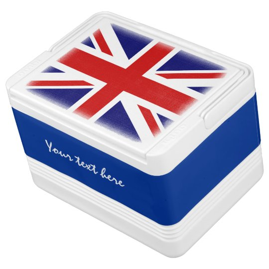British flag can cooler box with Union Jack