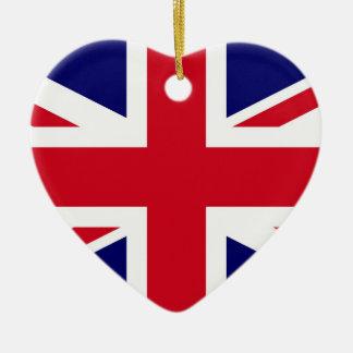 British Flag Ceramic Heart Decoration
