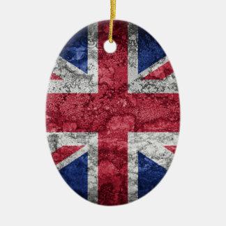 British flag. ceramic oval decoration