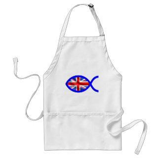 British Flag Christian Fish Symbol Aprons