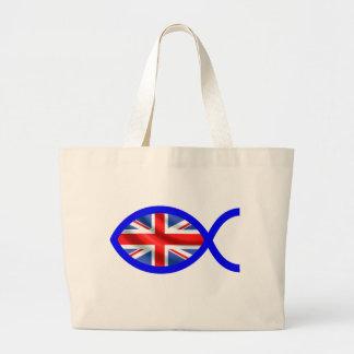 British Flag Christian Fish Symbol Bags