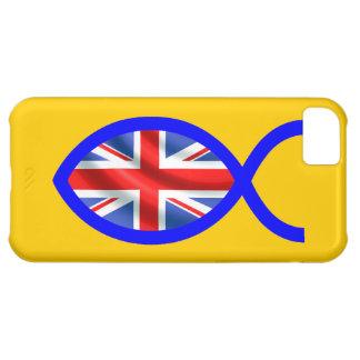 British Flag Christian Fish Symbol iPhone 5C Cover