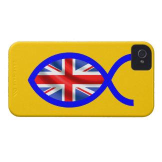 British Flag Christian Fish Symbol iPhone 4 Covers