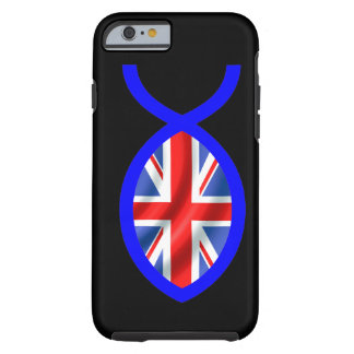 British Flag Christian Fish Symbol Tough iPhone 6 Case