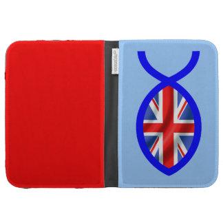 British Flag Christian Fish Symbol Kindle Keyboard Case