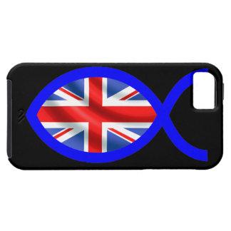 British Flag Christian Fish Symbol iPhone 5 Cover