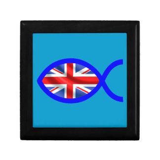 British Flag Christian Fish Symbol Jewelry Boxes