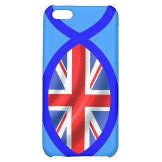 British Flag Christian Fish Symbol iPhone 5C Cases