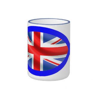 British Flag Christian Fish Symbol Mugs