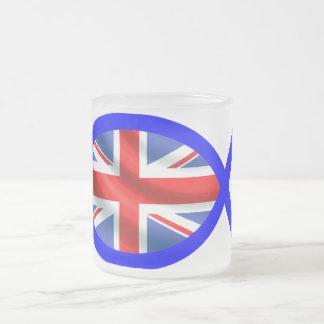 British Flag Christian Fish Symbol Mug