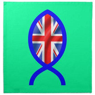 British Flag Christian Fish Symbol Napkins