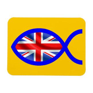 British Flag Christian Fish Symbol Rectangle Magnets