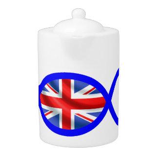 British Flag Christian Fish Symbol