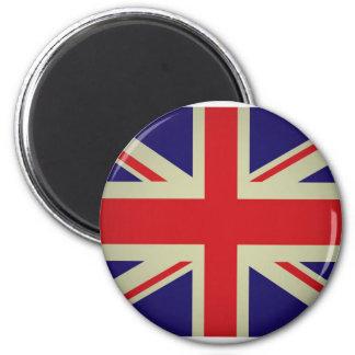 British flag design 6 cm round magnet