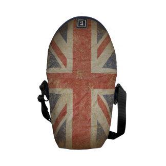 British Flag Distressed Courier Bag