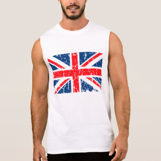 British Flag Distressed Sleeveless T-shirts
