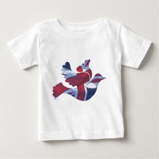 British Flag Dove Baby T-Shirt