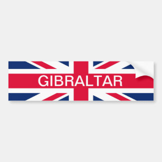 British Flag & Gibraltar Text Bumper Sticker