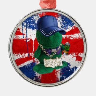 British Flag Grafitti Fonty Christmas Ornament