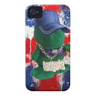 British Flag Grafitti Fonty iPhone 4 Case-Mate Case