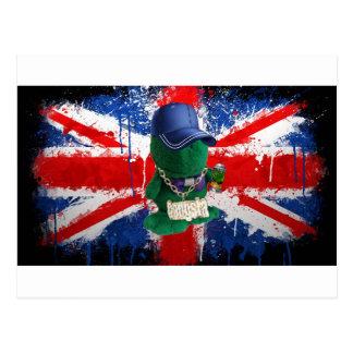 British Flag Grafitti Fonty Postcard