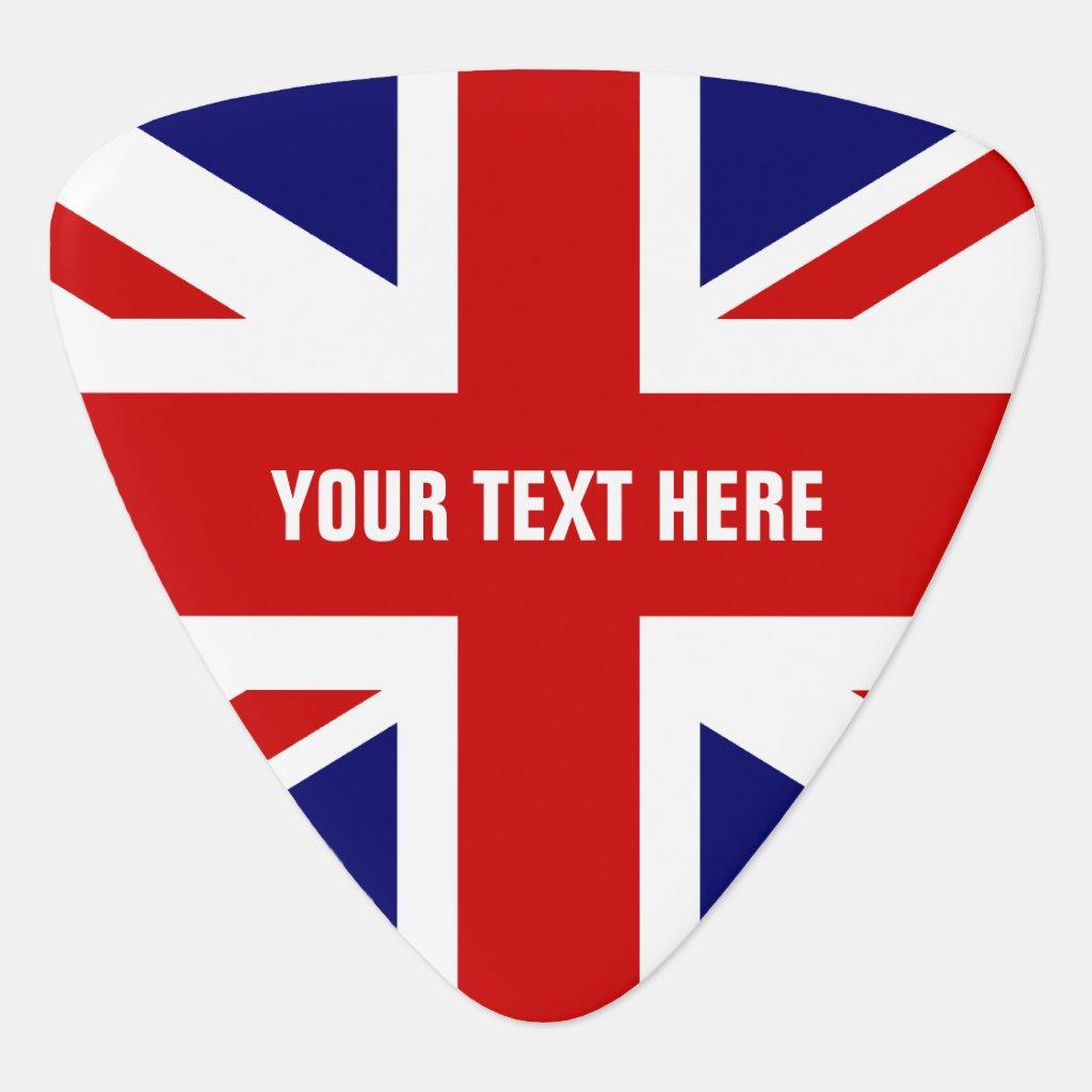 British flag guitar pick | Personalised Union Jack