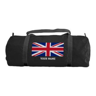 British flag gym duffel bag