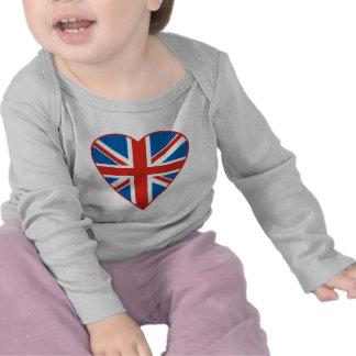 British Flag Heart Shirts