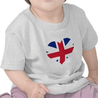 British Flag Heart Tshirts