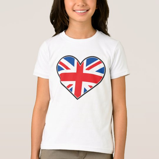British Flag In A Heart T-Shirt
