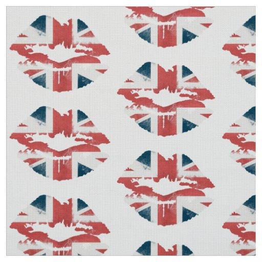 British Flag Lips Fabric