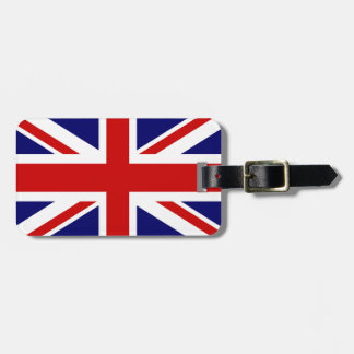 British flag luggage tags for bags and suitcases