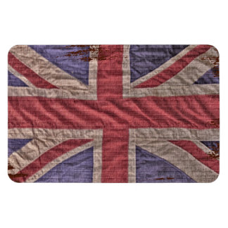 British Flag on Brick Magnet