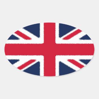 British Flag Oval Sticker