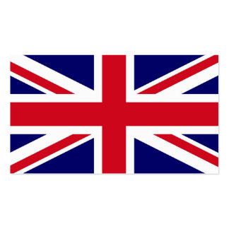 British Flag Pack Of Standard Business Cards