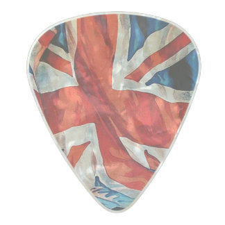British Flag Pearl Celluloid Guitar Pick