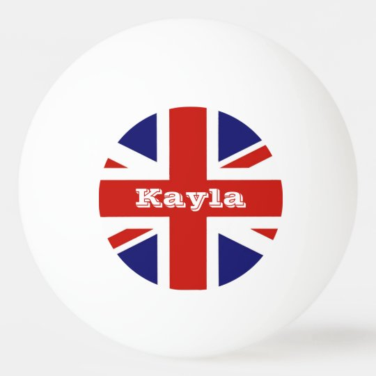British Flag Personalised Ping Pong Ball