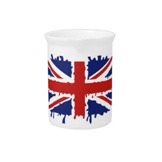 British flag pitcher