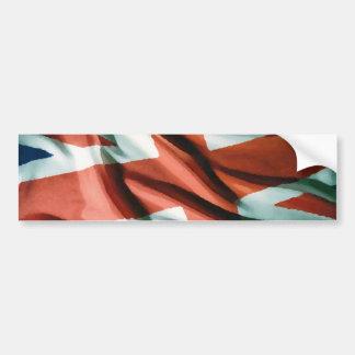 British Flag Pop Art Bumper Sticker