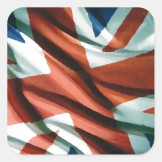 British Flag Pop Art Square Sticker