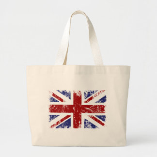 British Flag Punk Grunge Large Tote Bag