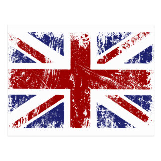 British Flag Punk Grunge Postcards