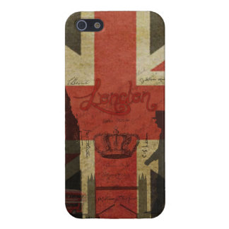 British Flag, Red Bus, Big Ben & Authors Cover For iPhone 5/5S