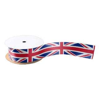 British flag ribbon satin ribbon