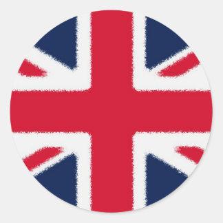 British Flag Round Sticker